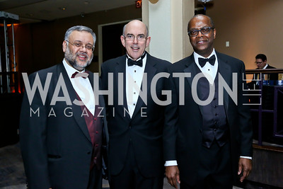 South African Amb. Ebrahim Rasool, Africare Board Chairman Stephen Cashin. Africare President Darius Mans. Photo by Tony Powell. Africare Bishop John T. Walker Memorial Dinner. Hilton Hotel. April 5, 2014