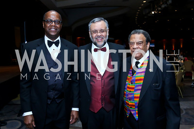 Africare President Darius Mans, South African Amb. Ebrahim Rasool, Former UN Amb. Andrew Young. Photo by Tony Powell. Africare Bishop John T. Walker Memorial Dinner. Hilton Hotel. April 5, 2014