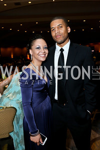 Alicia Rodrigues, Kelvin Franklin. Photo by Tony Powell. Africare Bishop John T. Walker Memorial Dinner. Hilton Hotel. April 5, 2014
