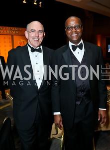 Africare Board Chairman Stephen Cashin, President Darius Mans. Photo by Tony Powell. Africare Bishop John T. Walker Memorial Dinner. Hilton Hotel. April 5, 2014