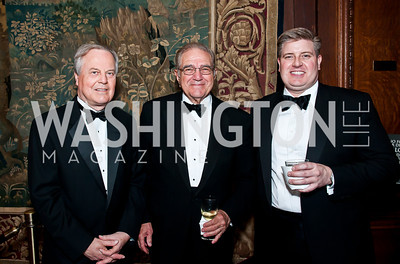 Ed Whitfield, Charles DiBona, Andrew Colquitt. Photo by Tony Powell. 2014 Alliance Francaise AFEI Gala. Anderson House. April 10, 2014