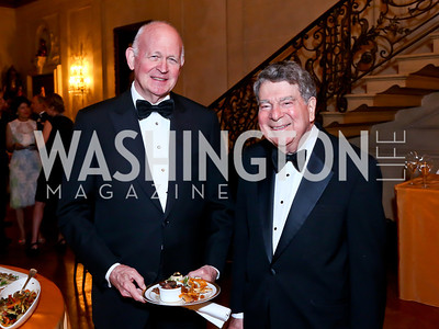 Michael Pillsbury, Calvin Cafritz. Photo by Tony Powell. 2014 Alliance Francaise AFEI Gala. Anderson House. April 10, 2014