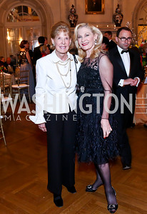 Julie Folger, Susan Pillsbury. Photo by Tony Powell. 2014 Alliance Francaise AFEI Gala. Anderson House. April 10, 2014