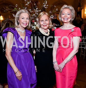 Nina Pillsbury, Evelyn DiBona, Joan Carl. Photo by Tony Powell. 2014 Alliance Francaise AFEI Gala. Anderson House. April 10, 2014