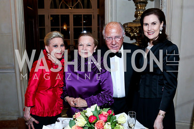 Vibeke Lofft, Ruthie Leffall, Arnault de Borchgrave and Alexandra de Borchgrave. Photo by Tony Powell. 2014 Alliance Francaise AFEI Gala. Anderson House. April 10, 2014