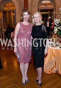 Marjorie Miller, Willee Lewis. Photo by Tony Powell. 2014 Alliance Francaise AFEI Gala. Anderson House. April 10, 2014