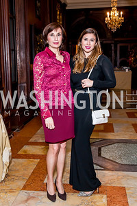 Moncao Amb. Maguy Maccario Doyle and Gabrielle Doyle. Photo by Tony Powell. 2014 Alliance Francaise AFEI Gala. Anderson House. April 10, 2014