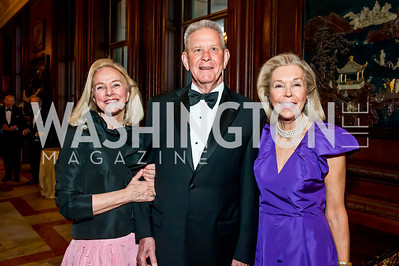 Caroline Boutte, Peter Gallagher, Nina Pillsbury. Photo by Tony Powell. 2014 Alliance Francaise AFEI Gala. Anderson House. April 10, 2014