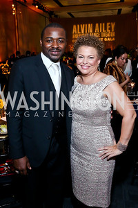 AAADT Artistic Director Robert Battle, Gala Co-Chair Debra Lee. Photo by Tony Powell. 2014 Alvin Ailey Gala. Kennedy Center. February 4, 2014