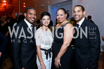 Rep. Steven Horsford and Dr. Sonya Horsford, Nicole Venable, Will Jawando. Photo by Tony Powell. 2014 Alvin Ailey Gala. Kennedy Center. February 4, 2014