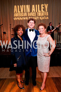 Gala Chairs Gina Adams, Lyndon Boozer, Debra Lee. Photo by Tony Powell. 2014 Alvin Ailey Gala. Kennedy Center. February 4, 2014