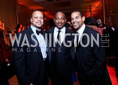 Nigel Stephens, Yelberton Watkins, Will Jawando. Photo by Tony Powell. 2014 Alvin Ailey Gala. Kennedy Center. February 4, 2014