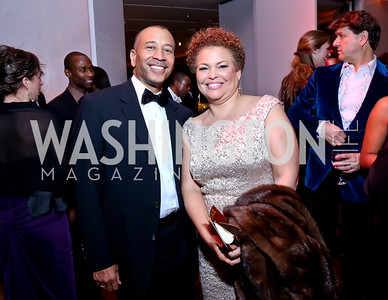 Superior Court Judge Thomas Motley, Debra Lee. Photo by Tony Powell. 2014 Alvin Ailey Gala. Kennedy Center. February 4, 2014