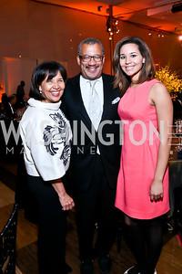 Toni and Dwight Bush, Jackie Bush. Photo by Tony Powell. 2014 Alvin Ailey Gala. Kennedy Center. February 4, 2014