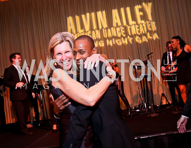 Mary Margaret Trouxdale, AAADT Dancer Samuel Lee Roberts. Photo by Tony Powell. 2014 Alvin Ailey Gala. Kennedy Center. February 4, 2014