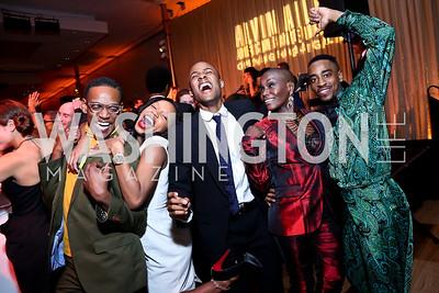 AAADT Dancers Marcus Willis, Kelly Robotham, Yannick Lebrun, Hope Boykin, Renaldo Gardner. Photo by Tony Powell. 2014 Alvin Ailey Gala. Kennedy Center. February 4, 2014