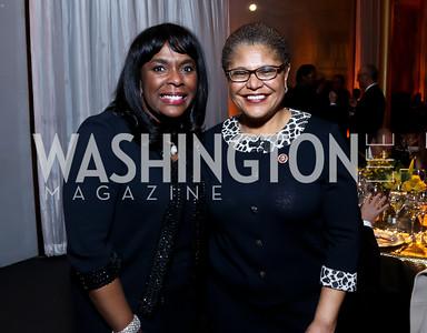 Rep. Terri Sewell, Rep. Karen Bass. Photo by Tony Powell. 2014 Alvin Ailey Gala. Kennedy Center. February 4, 2014