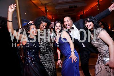 Mele Melton, Kim Tignor, Jen Arnic, Montez Anderson, Samin Malik. Photo by Tony Powell. 2014 Alvin Ailey Gala. Kennedy Center. February 4, 2014