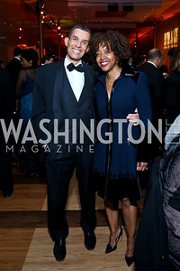 Gene and Gina Adams. Photo by Tony Powell. 2014 Alvin Ailey Gala. Kennedy Center. February 4, 2014