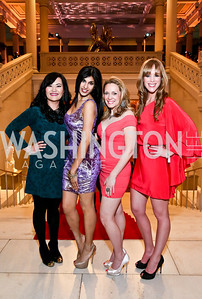 Sery Kim, Sher Mathew, Meredith Hope, Maggie Johnson. Photo by Tony Powell. Artini. Corocoran Gallery of Art. March 22, 2014