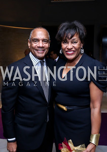 Corporate Citizen Honoree American Express CEO Ken Chenault, Visual Arts Award Honoree Carrie Mae Weems. Photo by Tony Powell. 2014 BET Honors Dinner. Museum for Women in the Arts. February 7, 2014