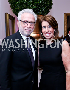 Wolf and Lynn Blitzer. Photo by Tony Powell. 2014 BET Honors Dinner. Museum for Women in the Arts. February 7, 2014