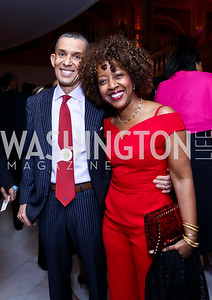 Gene and Gina Adams. Photo by Tony Powell. 2014 BET Honors Dinner. Museum for Women in the Arts. February 7, 2014