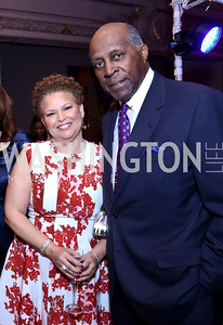 CEO of BET Holdings, Inc. Debra Lee, Vernon Jordan. Photo by Tony Powell. 2014 BET Honors Dinner. Museum for Women in the Arts. February 7, 2014