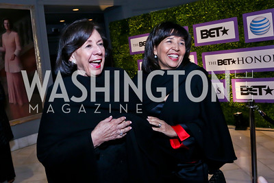 Ann Jordan, Toni Bush. Photo by Tony Powell. 2014 BET Honors Dinner. Museum for Women in the Arts. February 7, 2014