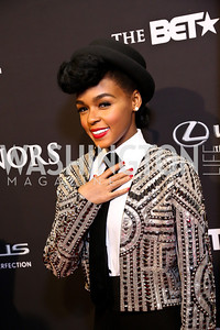 Performer Janelle Monae. Photo by Tony Powell. 2014 BET Honors Red Carpet. Warner Theater. February 8, 2014