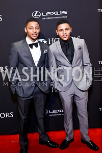 Performers Vicus and Vincent. Photo by Tony Powell. 2014 BET Honors Red Carpet. Warner Theater. February 8, 2014