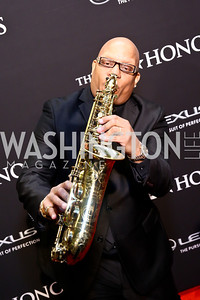 Ski Johnson. Photo by Tony Powell. 2014 BET Honors Red Carpet. Warner Theater. February 8, 2014