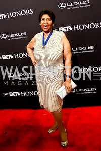 Musical Arts Award Honoree Aretha Franklin. Photo by Tony Powell. 2014 BET Honors Red Carpet. Warner Theater. February 8, 2014