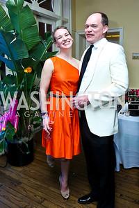 Caroline Applegarth, John Barnett. Photo by Tony Powell. 2014 Bachelors and Spinsters Ball. City Tavern Club. April 11. 2014