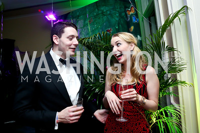 Steve Toth, Laura Covington. Photo by Tony Powell. 2014 Bachelors and Spinsters Ball. City Tavern Club. April 11. 2014