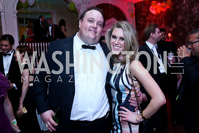 Fritz Brogan, Brooke Henderson. Photo by Tony Powell. 2014 Bachelors and Spinsters Ball. City Tavern Club. April 11. 2014