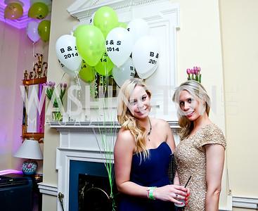 Laura Curtis, Alexandra Ryan Thomas. Photo by Tony Powell. 2014 Bachelors and Spinsters Ball. City Tavern Club. April 11. 2014