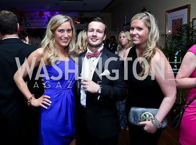 Abby Albright, Michael McAdams, Jacqueline Greeves. Photo by Tony Powell. 2014 Bachelors and Spinsters Ball. City Tavern Club. April 11. 2014