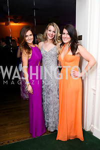 Karlie Blattner, Alexandra Yeager, Mary Kaschak. Photo by Tony Powell. 2014 Bachelors and Spinsters Ball. City Tavern Club. April 11. 2014