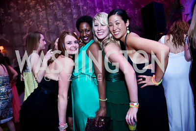 Julianne Peck, Kelly Ray, Christina Nielsen, Cecilia Jen. Photo by Tony Powell. 2014 Bachelors and Spinsters Ball. City Tavern Club. April 11. 2014