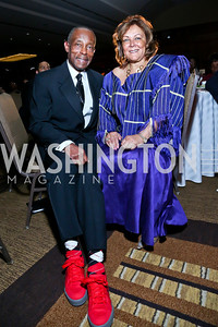 Greater Washington Urban League President and CEO George Lambert and Bernadette Lambert. Photo by Tony Powell. 2014 Black Tie and Sneakers Gala. Grand Hyatt. March 19, 2014