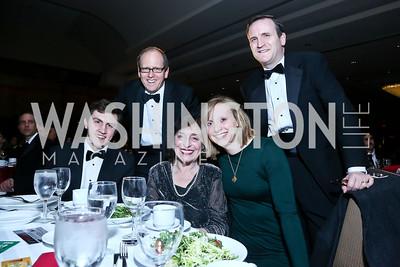 Michael, Jonathan, Berta, Katie and David Ledecky. Photo by Tony Powell. 2014 Black Tie and Sneakers Gala. Grand Hyatt. March 19, 2014