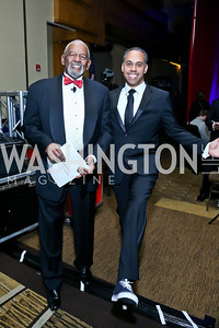 Masters of Ceremonies Jim Vance and Chris Lawrence. Photo by Tony Powell. 2014 Black Tie and Sneakers Gala. Grand Hyatt. March 19, 2014