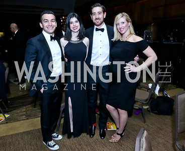 Asa Lopatin, Eden Raskin, Brandon Jenkins, Tami Twyman. Photo by Tony Powell. 2014 Black Tie and Sneakers Gala. Grand Hyatt. March 19, 2014