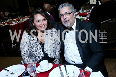 Candice Mitchell, Rod Palmer. Photo by Tony Powell. 2014 Black Tie and Sneakers Gala. Grand Hyatt. March 19, 2014