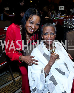 Kimberly Bassett, Past GWUL President Maudine Cooper. Photo by Tony Powell. 2014 Black Tie and Sneakers Gala. Grand Hyatt. March 19, 2014