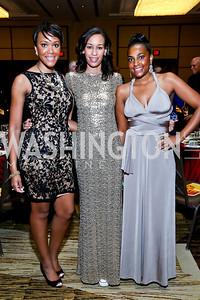 Rahila Danjuma, Ramona Stanley, Victoria Lambert. Photo by Tony Powell. 2014 Black Tie and Sneakers Gala. Grand Hyatt. March 19, 2014