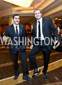 Zach Abie, Tim Wisniewski. Photo by Tony Powell. 2014 Black Tie and Sneakers Gala. Grand Hyatt. March 19, 2014
