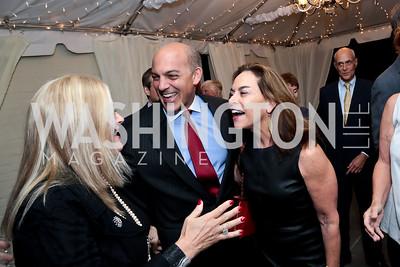 Trish Vradenburg, Jonathan Silver, Melissa Moss. Photo by Tony Powell. Cafritz Welcome Back from Summer. September 13, 2014
