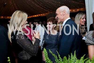 Jane Cafritz, Meryl Chertoff, Michael Chertoff. Photo by Tony Powell. Cafritz Welcome Back from Summer. September 13, 2014